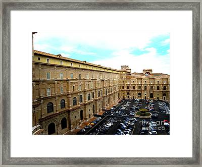 Framed Print featuring the photograph Parking Lot In Vatican by Tanya  Searcy