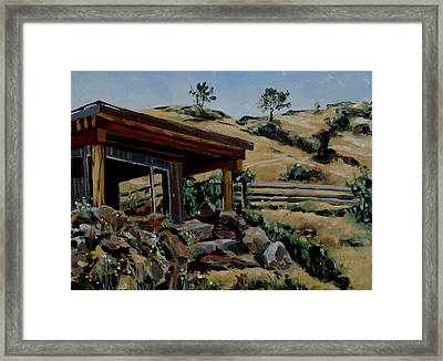 Park's Sauna Livingston  Mt Framed Print
