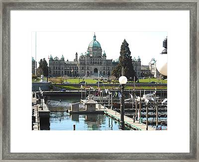 Parliament Inner Habrour Victoria Framed Print