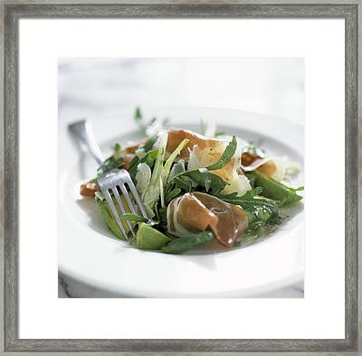 Parma Ham And Avocado Salad Framed Print by Jon Stokes
