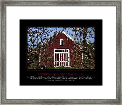 Parmenter Barn Framed Print by Jim McDonald Photography
