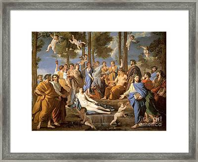 Parnassus, Apollo And The Muses, 1635 Framed Print by Photo Researchers