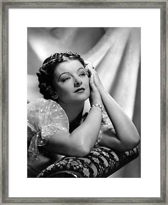 Parnell, Myrna Loy, Mgm Photo Framed Print by Everett