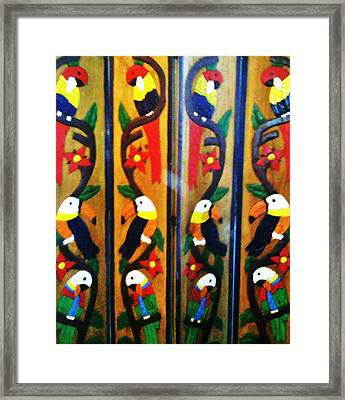 Parrots And Tucans  Framed Print by Unique Consignment