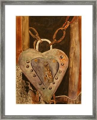 Parthenay Padlock Framed Print by Betty-Anne McDonald