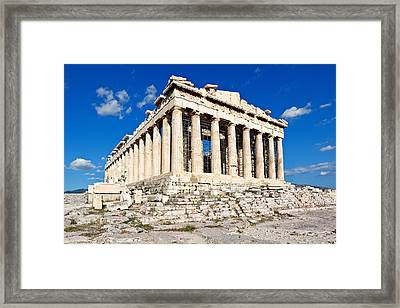 Parthenon - Greece Framed Print by Constantinos Iliopoulos