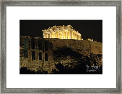 Parthenon Athens Framed Print by Bob Christopher
