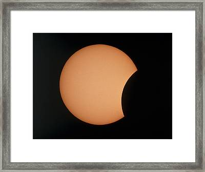 Partial Phase Of An Annular Solar Eclipse 10/5/94 Framed Print by Dr Fred Espenak