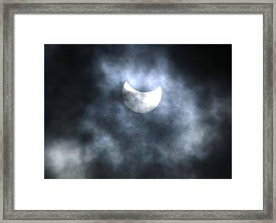 Partial Solar Eclipse, August 2008 Framed Print