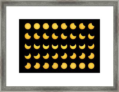 Partial Solar Eclipse Framed Print