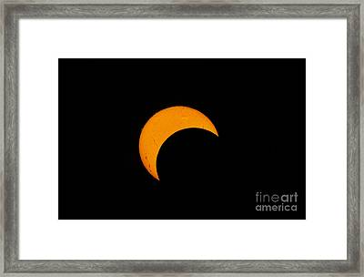 Partial Solar Eclipse Of 2012 Framed Print by Phillip Jones