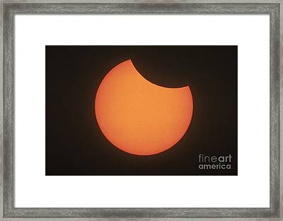 Partial Solar Eclipse Framed Print