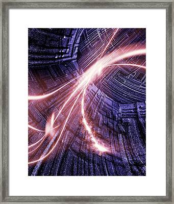 Particle Accelerator Framed Print by Richard Kail