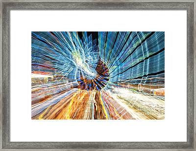 Particle Accelerator With Angel Framed Print