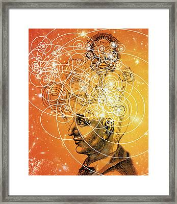 Particle Tracks And Old Cosmology Framed Print by Mehau Kulyk