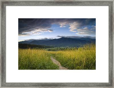Parting Clouds At The Smokies Framed Print