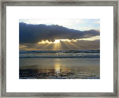 Parting The Heavens Framed Print by Pamela Patch