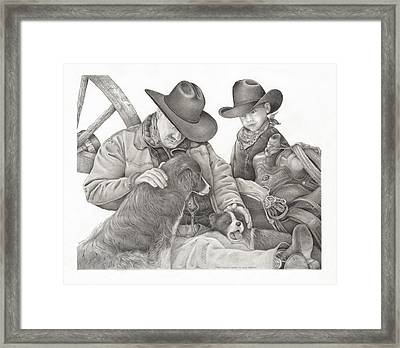 Partners Framed Print by Bryan Austerberry