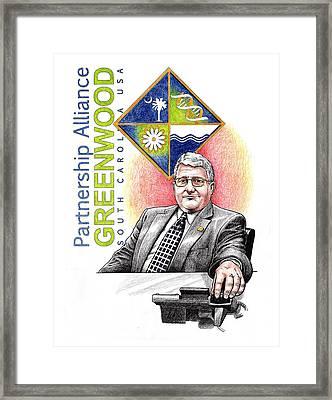 Partnership Alliance Framed Print by Paul Abrahamsen
