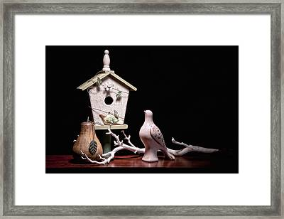 Partridge And A Pear Tree Framed Print