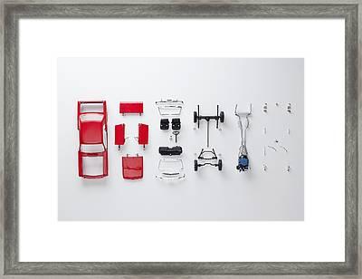 Parts Of A Model Car Framed Print