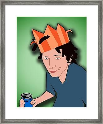 Party King Framed Print by Jera Sky