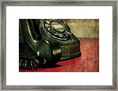 Party Line II Framed Print by Tom Mc Nemar