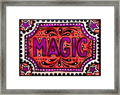 Framed Print featuring the painting Party Magic  by Nada Meeks