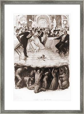 Party Of The Well-to-do Is Disrupted Framed Print by Everett