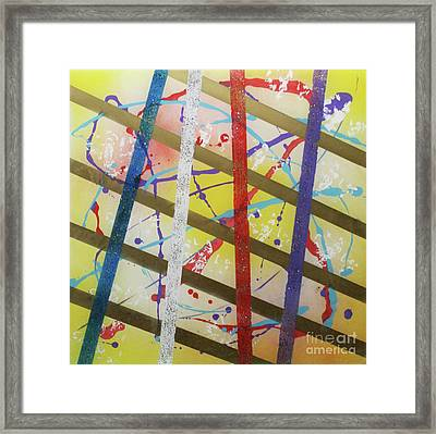 Party-stripes-1 Framed Print by Mordecai Colodner