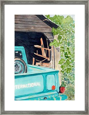 Framed Print featuring the painting Pa's Truck by Joan Zepf
