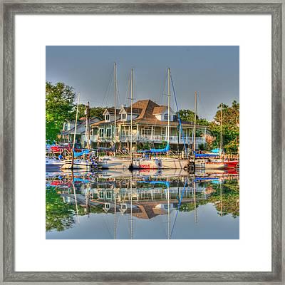Pascagoula Boat Harbor Framed Print