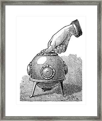 Pascal's Principle Demonstration, 1889 Framed Print by