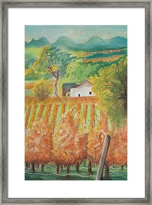 Paso Robles In The Fall Framed Print by Terry Godinez