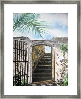 Framed Print featuring the pastel Passage by Judy Via-Wolff