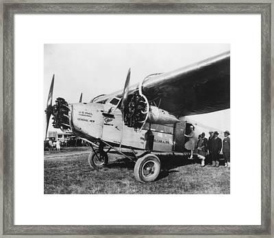 Passengers Board United States Mail Framed Print