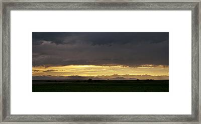 Framed Print featuring the photograph Passing Storm Clouds by Monte Stevens