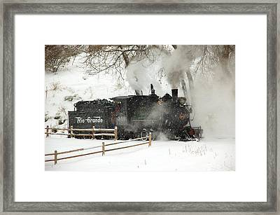 Passing The Fence Framed Print by Ken Smith