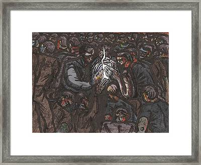 Passing The Flame At The Commitment Ceremony Framed Print by Al Goldfarb