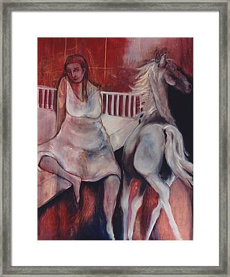 Framed Print featuring the painting Passing Thought by Irena Mohr