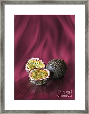 Framed Print featuring the digital art Passion Fruit by Johnny Hildingsson
