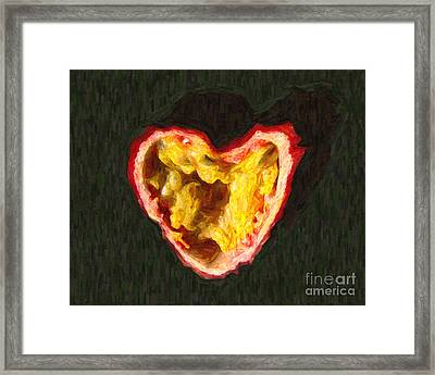 Passion Fruit Framed Print by Wingsdomain Art and Photography
