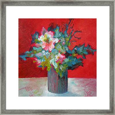 Passion Posy Framed Print by Susanne Clark