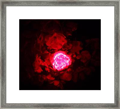 Passionate Glow Framed Print by Mickey Hatt