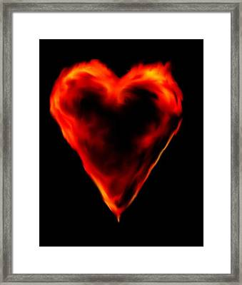 Passionate Heart Framed Print