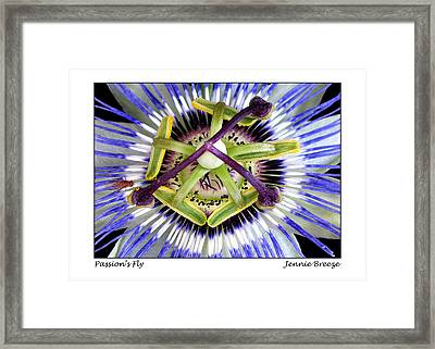 Framed Print featuring the photograph Passion's Fly by Jennie Breeze