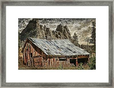 Past Framed Print by DMSprouse Art