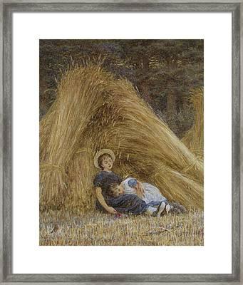 Past Work Framed Print by Helen Allingham