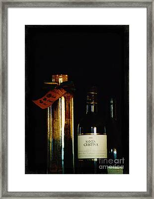 Pasta And Wine Framed Print by Thomas Luca