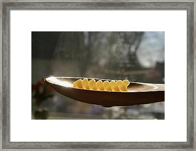 Pasta Framed Print by Emanuel Tanjala